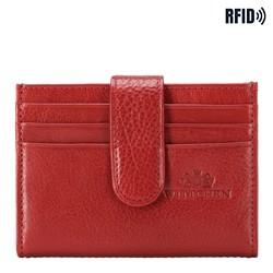 Kartenetui aus Leder mit Druckknopf, rot, 21-2-027-L3, Bild 1
