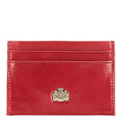Kartenetui aus Leder mit  Wappen, klein, rot, 10-2-038-3, Bild 1