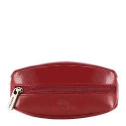 Schlüsseletui aus Leder mit Ring, rot, 14-2-021-L91, Bild 1