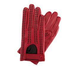Damenhandschuhe, rot-schwarz, 46-6-271-2T-S, Bild 1