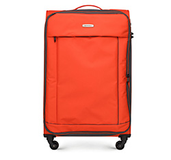 Großer Koffer, orange-schwarz, 56-3S-463-55, Bild 1