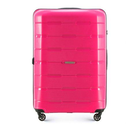 Большой чемодан, розовый, 56-3T-723-10, Фотография 1