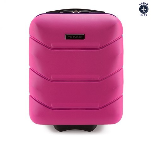 Чемодан ручная кладь, розовый, 56-3A-281-10, Фотография 1