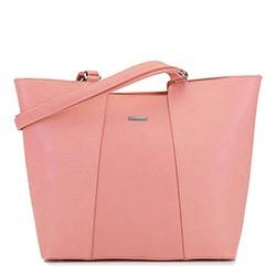 Большая трапециевидная сумка-шоппер, розовый, 29-4Y-004-PE, Фотография 1