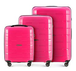 Комплект чемоданов, розовый, 56-3T-72S-77, Фотография 1