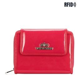 Женский кошелек из лакированной кожи, розовый, 25-1-211-PL, Фотография 1