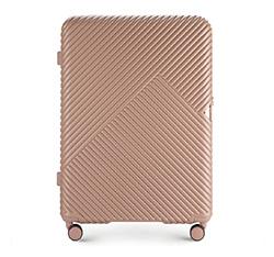 Большой чемодан, розовый пудровый, 56-3P-843-77, Фотография 1