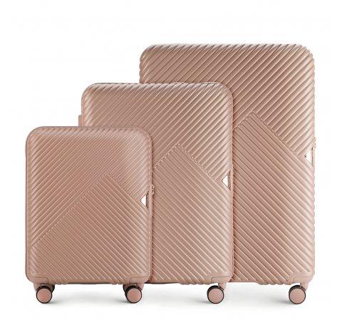 Комплект чемоданов, розовый пудровый, 56-3P-84S-77, Фотография 1