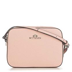 ная сумка-коробочка через плечо, розовый пудровый, 29-4E-005-PP, Фотография 1