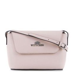 Женская кожаная сумка через плечо с геометрическим дизайном, розовый пудровый, 89-4-420-P, Фотография 1