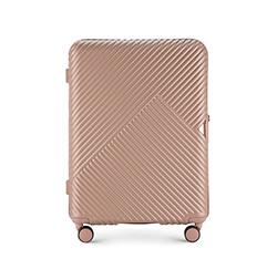 Средний чемодан, розовый пудровый, 56-3P-842-77, Фотография 1