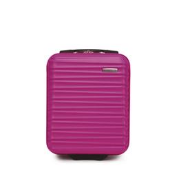 Чемодан ручная кладь из ABS ребристый, розовый, 56-3A-315-34, Фотография 1