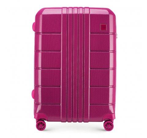 Средний чемодан, розовый, 56-3P-822-95, Фотография 1