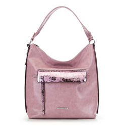 Сумка хобо, розовый, 90-4Y-402-P, Фотография 1