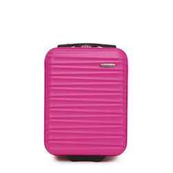 ABS kabin bőrönd bordázott, rózsaszín, 56-3A-315-34, Fénykép 1