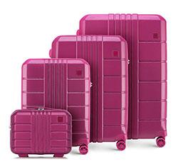 Bőröndszett polikarbonátból, rózsaszín, 56-3P-82K-60, Fénykép 1