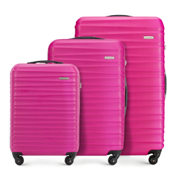 Bőröndszettek, rózsaszín, 56-3A-31S-34, Fénykép 1