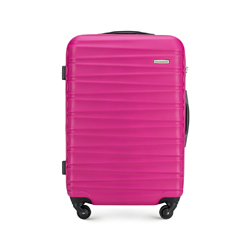 Közepes bőrönd, rózsaszín, 56-3A-312-34, Fénykép 1