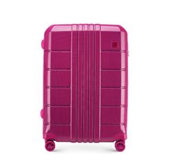 Közepes bőrönd polikarbonát, rózsaszín, 56-3P-822-60, Fénykép 1