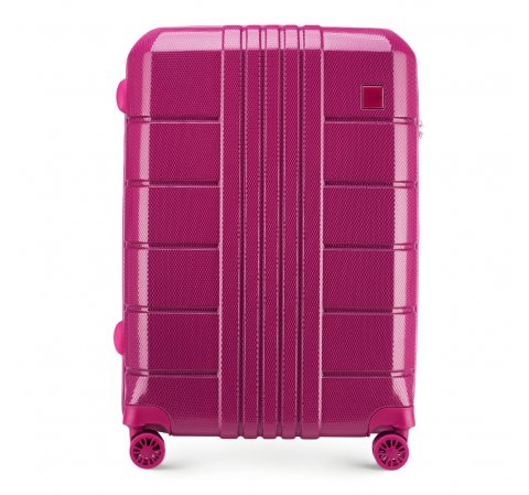 Közepes bőrönd polikarbonát, rózsaszín, 56-3P-822-95, Fénykép 1