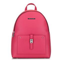 Női faxu bőr hátizsák, rózsaszín, 29-4Y-003-PF, Fénykép 1