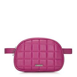 Női táska vesealakú szteppelt, rózsaszín, 91-4Y-308-P, Fénykép 1