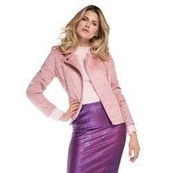 Dámská bunda, růžová, 86-9P-101-P-M, Obrázek 1