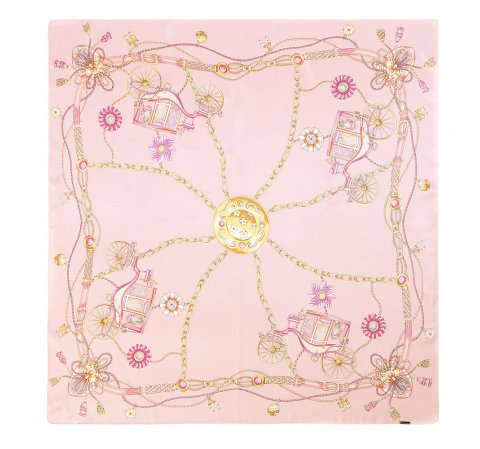 Dámský šátek, růžová, 86-7D-S22-X06, Obrázek 1