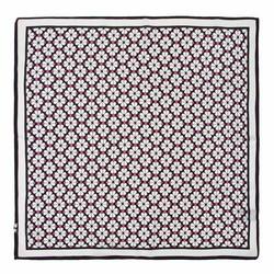 Hedvábný šátek, růžovo-černá, 93-7D-S01-40, Obrázek 1