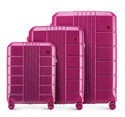 Sada cestovních zavazadel, růžová, 56-3P-82S-60, Obrázek 1