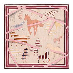 Dámský šátek, růžovo-oranžová, 88-7D-S31-X8, Obrázek 1