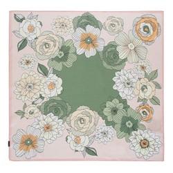 Hedvábný šátek, růžovo-zelená, 93-7D-S01-23, Obrázek 1