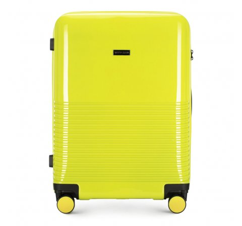 Средний чемодан из ABS-пластика, салатовый, 56-3H-572-90, Фотография 1