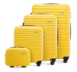 ABS bőrönd készlet bordákkal, sárga, 56-3A-31K-50, Fénykép 1