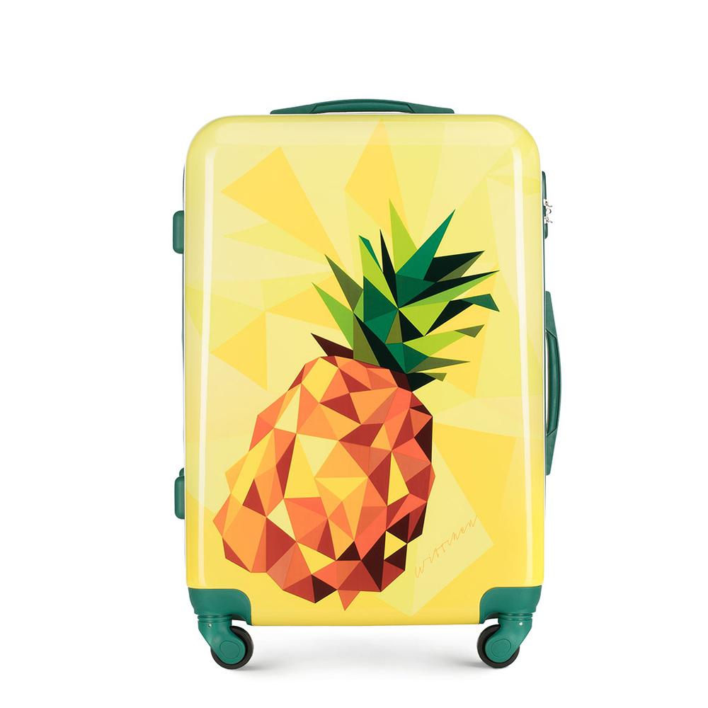 ABS közepes bőrönd mintás, sárga, 56-3A-642-50, Fénykép 1