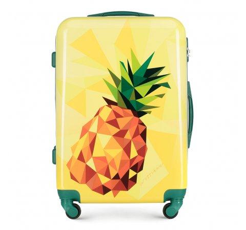 ABS közepes bőrönd mintás, sárga, 56-3A-642-80, Fénykép 1