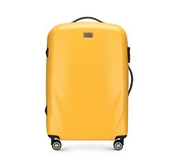 Közepes bőrönd, sárga, 56-3P-572-50, Fénykép 1