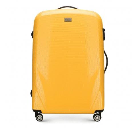 Nagy bőrönd, sárga, 56-3P-573-70, Fénykép 1