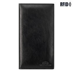Einfaches Reisepassetui aus Leder, schwarz, 14-2-200-L1, Bild 1