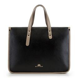 Laptoptasche, schwarz-beige, 90-4E-355-1, Bild 1