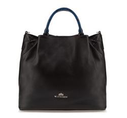 Damentasche, schwarz-blau, 85-4E-206-17, Bild 1