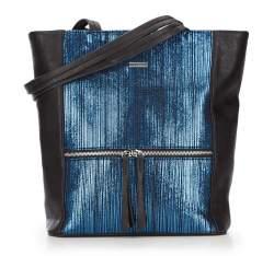 Einkaufstasche, schwarz-blau, 87-4Y-762-1, Bild 1