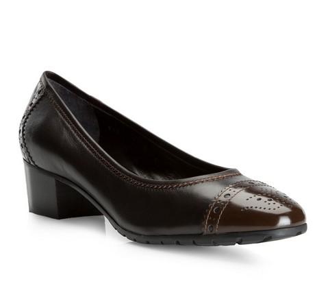 Damenschuhe, schwarz-braun, 81-D-115-4-36, Bild 1