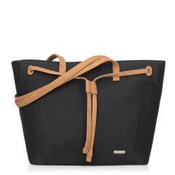 Einkaufstasche, schwarz-braun, 88-4Y-558-1, Bild 1