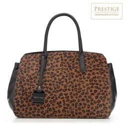 Handtasche, schwarz-braun, 87-4E-019-X1, Bild 1