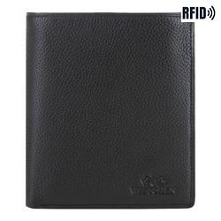 mittelgroße Herren -Geldbörse aus Leder, schwarz, 02-1-139-1L, Bild 1