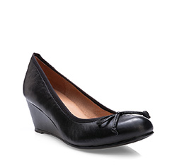 Damen Ballerina Schuhe, schwarz, 83-D-600-1-36, Bild 1