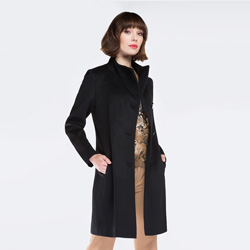 Damenmantel, schwarz, 87-9W-103-1-2X, Bild 1