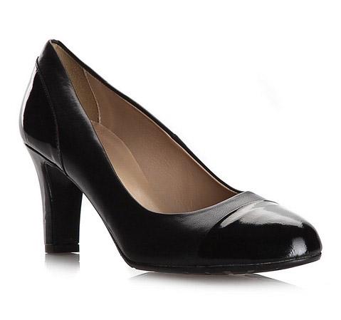 Damenschuhe, schwarz, 79-D-413-1-36, Bild 1