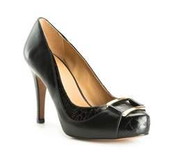 Damenschuhe, schwarz, 83-D-752-1-40, Bild 1